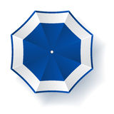 Umbrella blue white Stock Images