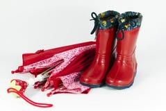 Umbrella and boots Stock Photo