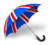 Umbrella with British flag Royalty Free Stock Photography