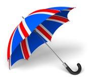 Umbrella with British flag Royalty Free Stock Photography