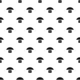 Umbrella and business case pattern, simple style. Umbrella and business case pattern. Simple illustration of umbrella and business case vector pattern for web Royalty Free Stock Image