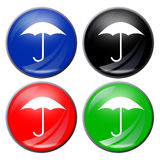 Umbrella button Stock Image