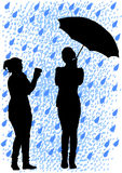 Umbrella and camera Stock Photo