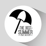 Umbrella card best summer travel and enjoy Stock Photography