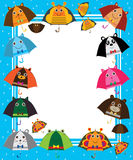Umbrella cartoon ear frame Stock Images