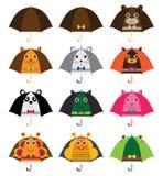 Umbrella cartoon ears set Stock Images