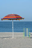 Umbrella and Chair Royalty Free Stock Image