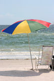 Umbrella and Chair. Relax at the beach stock photography