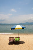 Umbrella on Cheung Chau Island Beach Hong Kong Royalty Free Stock Image