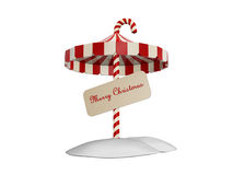 Umbrella of christmas Stock Image