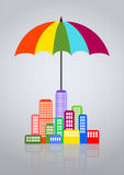 Umbrella city Royalty Free Stock Image