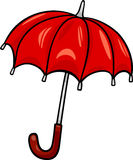 Umbrella clip art cartoon illustration Royalty Free Stock Photos