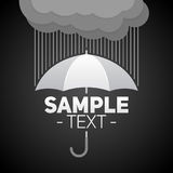 Umbrella with clouds and rain background Stock Photos