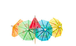 Umbrella for cocktails Stock Images