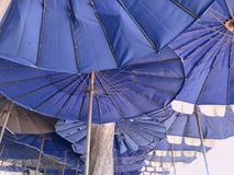Umbrella color blue royalty free stock photo