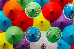 Umbrella color mix. From saa paper Stock Image
