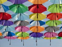 Umbrella, Color, Red, Green, Yellow Royalty Free Stock Photo