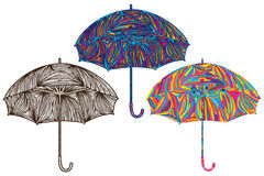 Umbrella colorful color Royalty Free Stock Photos