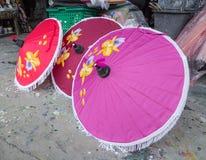Umbrella. Colorful handmade umbrella's Bo Sang village at Chiangmai province,Thailand Royalty Free Stock Photography