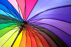 Umbrella. Colorful umbrella on under view Royalty Free Stock Photos