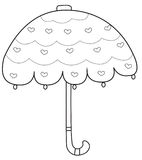 Umbrella coloring page Royalty Free Stock Image
