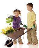 Preschool Gardeners Royalty Free Stock Image
