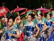 Umbrella dance Royalty Free Stock Photography