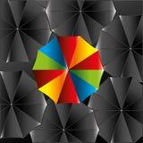 Umbrella design over black background vector illustration Stock Image