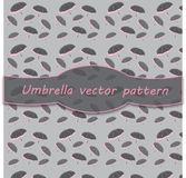 Umbrella digital pattern paper for scrapbook. Grey and baby pink shabby color. Endless texture can be used for printing onto fabric and paper or scrap booking vector illustration
