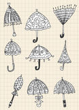 Umbrella doodle Royalty Free Stock Image
