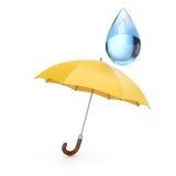 Umbrella and drop Royalty Free Stock Photo