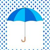 Umbrella and drops Royalty Free Stock Photos