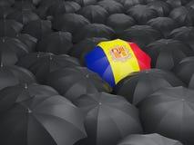 Umbrella with flag of andorra Stock Image