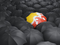 Umbrella with flag of bhutan Stock Images