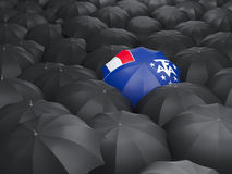 Umbrella with flag of french southern territories Royalty Free Stock Images