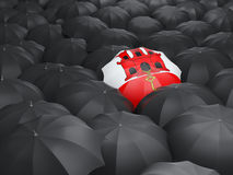 Umbrella with flag of gibraltar Royalty Free Stock Photo