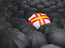 Umbrella with flag of guernsey Royalty Free Stock Images