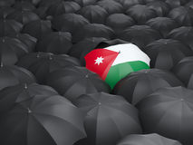 Umbrella with flag of jordan Royalty Free Stock Image