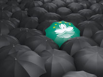 Umbrella with flag of macao Stock Photo