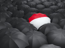 Umbrella with flag of monaco Royalty Free Stock Photos