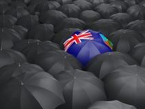 Umbrella with flag of montserrat Stock Photos