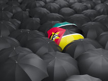 Umbrella with flag of mozambique Royalty Free Stock Images