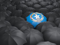 Umbrella with flag of northern mariana islands Stock Photos