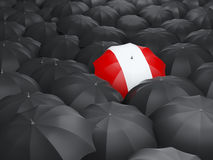 Umbrella with flag of peru Royalty Free Stock Photo
