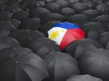 Umbrella with flag of philippines Stock Photos