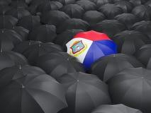 Umbrella with flag of sint maarten Royalty Free Stock Photos