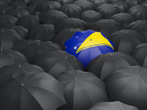 Umbrella with flag of tokelau Royalty Free Stock Images