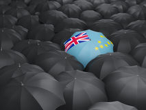 Umbrella with flag of tuvalu Stock Images