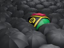 Umbrella with flag of vanuatu Royalty Free Stock Photo