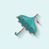 Umbrella flat vintage vector Royalty Free Stock Image